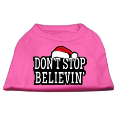 Mirage Pet Products Don't Stop Believin' Screenprint Shirts Bright Pink XXXL (20)