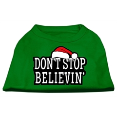Mirage Pet Products Don't Stop Believin' Screenprint Shirts Emerald Green XL (16)