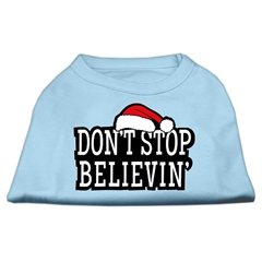 Mirage Pet Products Don't Stop Believin' Screenprint Shirts Baby Blue M (12)