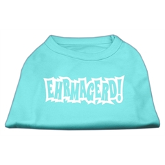 Mirage Pet Products Ehrmagerd Screen Print Shirt Aqua Lg (14)