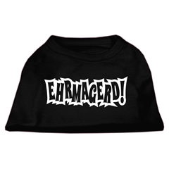 Mirage Pet Products Ehrmagerd Screen Print Shirt Black XXXL (20)