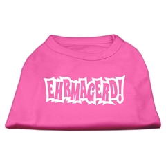 Mirage Pet Products Ehrmagerd Screen Print Shirt Bright Pink Lg (14)