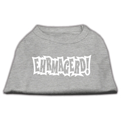 Mirage Pet Products Ehrmagerd Screen Print Shirt Grey Lg (14)