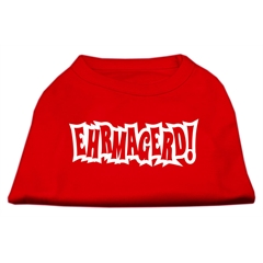 Mirage Pet Products Ehrmagerd Screen Print Shirt Red XXXL (20)