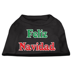 Mirage Pet Products Feliz Navidad Screen Print Shirts Black L (14)