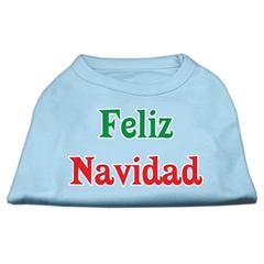 Mirage Pet Products Feliz Navidad Screen Print Shirts Baby Blue S (10)