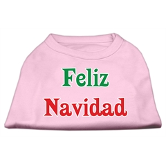 Mirage Pet Products Feliz Navidad Screen Print Shirts Light Pink L (14)
