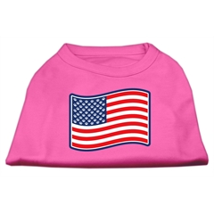 Mirage Pet Products Paws and Stripes Screen Print Shirts  Bright Pink M (12)