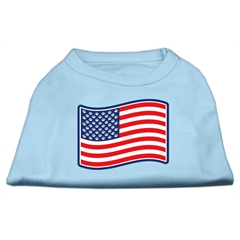 Mirage Pet Products Paws and Stripes Screen Print Shirts  Baby Blue XXXL(20)