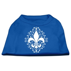 Mirage Pet Products Henna Fleur de Lis Screen Print Shirt Blue XXXL (20)