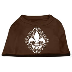 Mirage Pet Products Henna Fleur de Lis Screen Print Shirt Brown Lg (14)