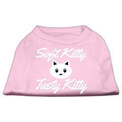Mirage Pet Products Softy Kitty, Tasty Kitty Screen Print Dog Shirt Light Pink XXL (18)