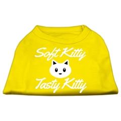 Mirage Pet Products Softy Kitty, Tasty Kitty Screen Print Dog Shirt Yellow XXXL (20)