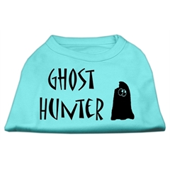Mirage Pet Products Ghost Hunter Screen Print Shirt Aqua with Black Lettering Lg (14)