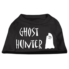 Mirage Pet Products Ghost Hunter Screen Print Shirt Black with White Lettering Sm (10)