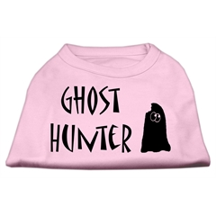 Mirage Pet Products Ghost Hunter Screen Print Shirt Light Pink with Black Lettering Sm (10)