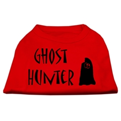 Mirage Pet Products Ghost Hunter Screen Print Shirt Red with Black Lettering Lg (14)