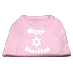Mirage Pet Products Happy Hanukkah Screen Print Shirt Light Pink Med (12)