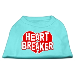 Mirage Pet Products Heart Breaker Screen Print Shirt Aqua XXXL (20)