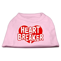 Mirage Pet Products Heart Breaker Screen Print Shirt Light Pink  Med (12)