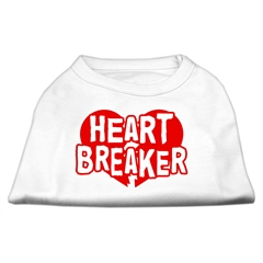 Mirage Pet Products Heart Breaker Screen Print Shirt White Lg (14)