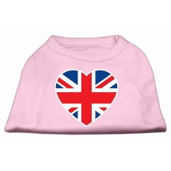 Mirage Pet Products British Flag Heart Screen Print Shirt Light Pink Lg (14)