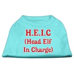 Mirage Pet Products Head Elf In Charge Screen Print Shirt Aqua XS (8)