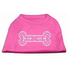 Mirage Pet Products Henna Bone Screen Print Shirt Bright Pink XS (8)