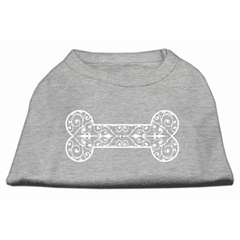 Mirage Pet Products Henna Bone Screen Print Shirt Grey Lg (14)