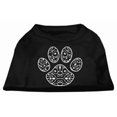 Mirage Pet Products Henna Paw Screen Print Shirt Black Med (12)