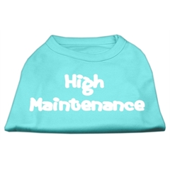 Mirage Pet Products High Maintenance Screen Print Shirts  Aqua S (10)
