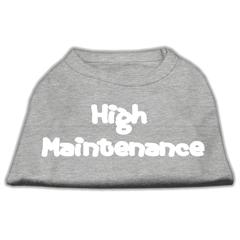 Mirage Pet Products High Maintenance Screen Print Shirts  Grey XL (16)