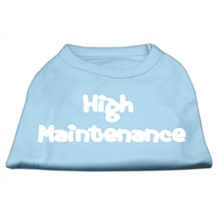 Mirage Pet Products High Maintenance Screen Print Shirts  Baby Blue XL (16)