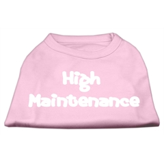 Mirage Pet Products High Maintenance Screen Print Shirts  Light Pink S (10)