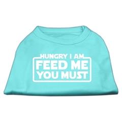 Mirage Pet Products Hungry I am Screen Print Shirt Aqua Med (12)