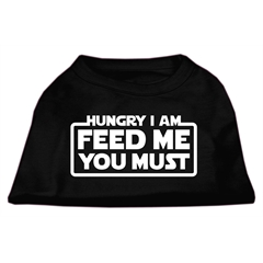 Mirage Pet Products Hungry I am Screen Print Shirt Black XS (8)