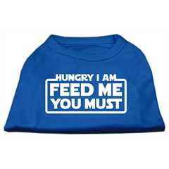 Mirage Pet Products Hungry I Am Screen Print Shirt Blue Med (12)