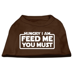 Mirage Pet Products Hungry I Am Screen Print Shirt Brown XS (8)