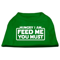 Mirage Pet Products Hungry I Am Screen Print Shirt Emerald Green XXXL (20)