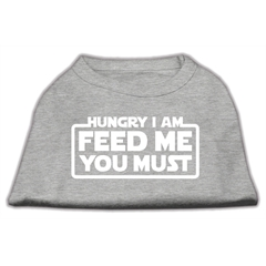 Mirage Pet Products Hungry I am Screen Print Shirt Grey Sm (10)
