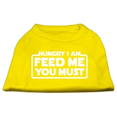 Mirage Pet Products Hungry I Am Screen Print Shirt Yellow XL (16)