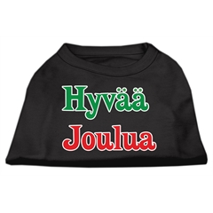 Mirage Pet Products Hyvaa Joulua Screen Print Shirt Black L (14)
