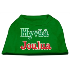 Mirage Pet Products Hyvaa Joulua Screen Print Shirt Emerald Green XXXL (20)