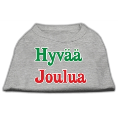 Mirage Pet Products Hyvaa Joulua Screen Print Shirt Grey L (14)