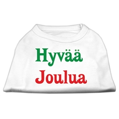 Mirage Pet Products Hyvaa Joulua Screen Print Shirt White XS (8)