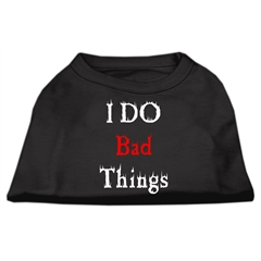 Mirage Pet Products I Do Bad Things Screen Print Shirts Black M (12)