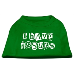 Mirage Pet Products I Have Issues Screen Printed Dog Shirt Emerald Green Lg (14)