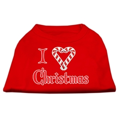 Mirage Pet Products I Heart Christmas Screen Print Shirt  Red XL (16)