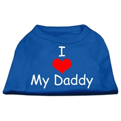 Mirage Pet Products I Love My Daddy Screen Print Shirts Blue XXXL (20)