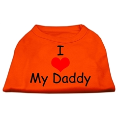 Mirage Pet Products I Love My Daddy Screen Print Shirts Orange XL (16)